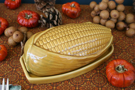POTTERY BARN INDIAN CORN LIDDED BUTTER DISH – NIB – A BUTTER WAY FOR AUT... - €33,21 EUR