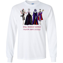 Disney Villians Well Behaved Women Seldom G240 White Cotton Unisex T Shirt - $26.50+