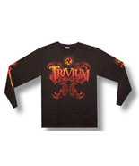 Trivium-Dragon-Longsleeve-Medium Black T-shirt - $19.34