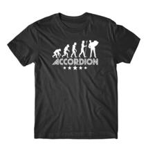 Accordion Evolution Retro Style Graphic T-Shirt - ₨1,770.58 INR+