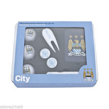 MANCHESTER CITY FC PREMIUM GOLF GIFT TIN, BALLS, BAG TAG, PEN - £19.48 GBP