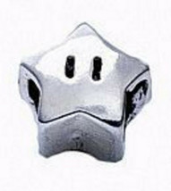 LOOK Super Mario Star power Real Genuine Sterling silver 925 jewelry European be - $13.69