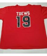 Chicago Blackhawks Hockey NHL Jonathan Toews Pro Edge Red Jersey T-Shirt... - $12.86