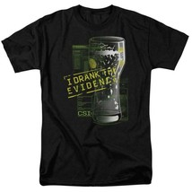 CSI t-shirt I Drank the Evidence TV series 100% cotton graphic tee CBS189 image 1