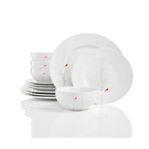 222 Fifth Winter Cardinal 12 Piece Dish Set - $120.00