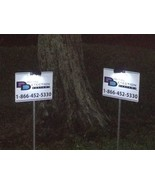 2 - DDS SECURITY YARD SIGNS + 2 SOLAR CLIP ON LIGHTS **BRAND NEW** - $27.99