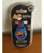 Children's Pokemon Watch Blue Rotating Flashing By Accutime Watch Old Ne... - $9.99