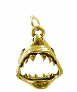 COOL New Gold plated Sterling Silver .925 Jaws SHARK Tooth Charm Pendant... - $24.99