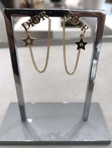 NEW AUTH Christian Dior 2019 DIO(R)EVOLUTION EARRINGS GOLD STAR CRYSTAL DANGLE image 2