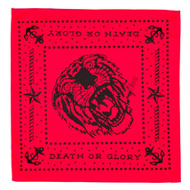 Sailor Jerry Tiger Bandana Fierce Death or Glory Tattoo Red Outlaw Handk... - $11.90