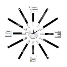 Creative Home Decoration Silent DIY Mirror Wall Clock - $19.94