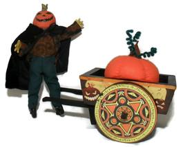 Jack & Wood Cart Handmade Halloween Decoration Figurnes Collectible  - £36.99 GBP