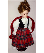 Vintage Porcelain Doll Blonde Red Dress 16 Inch Limited Edition Good Con... - $21.99