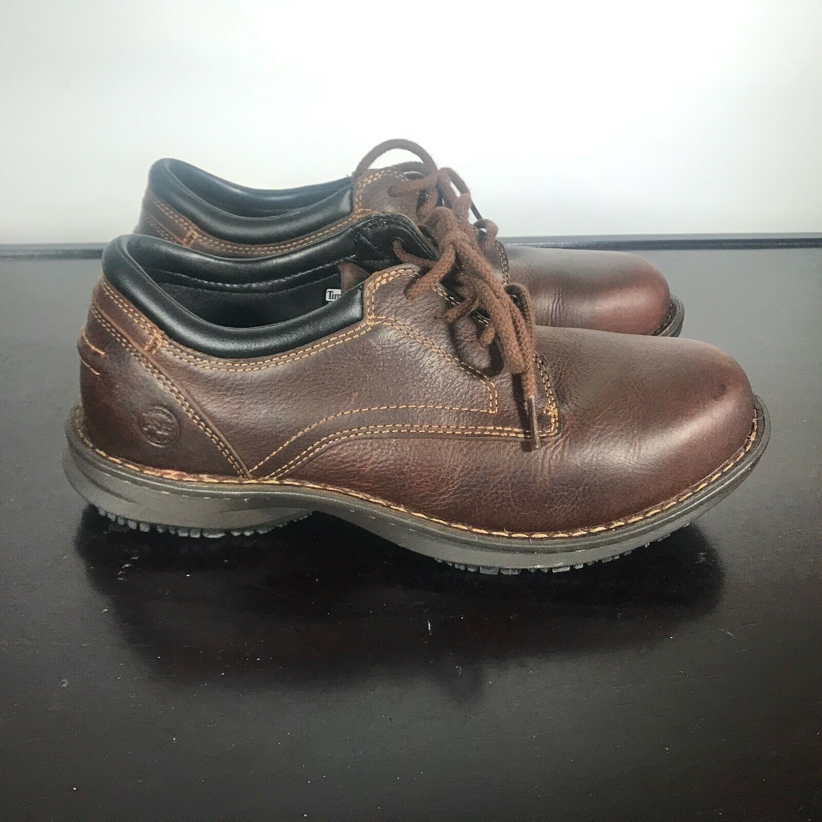 Primary image for Timberland Gladstone ESD PRO Series 85590 Brown Leather Sz 8.5 Wide Steel Toe