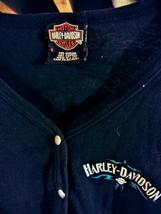 Womens Highland Harley Davidson Black LS Graphic T-shirt Tee Maryland - $17.77