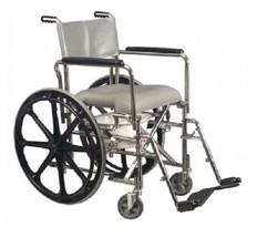 "E&J Folding Rehab Shower Commode 17 ¼"" HiBack with 24"" Rear wheel 12022110 - $859.95"