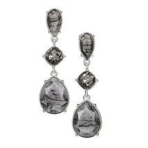 Avon Autumn Romance Drop Earrings in Grey & Black - $15.84