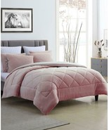 $130.00 Cathay Home Inc. Fleece/Microfiber Reversible Comforter Set, Twi... - $64.35