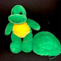 Build a Bear Green Yellow Turtle WITH REMOVABLE Zippered Backpack Shell ... - $19.99