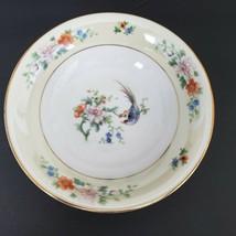 """Heinrich & Co Selb Songbird Cereal Bowl Floral Gold Trim Vintage 6"""" - $12.86"""