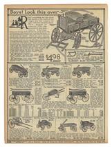 Antique Toy Wagons 1914 AD Ten Wagon Models Shown Described Original Per... - $14.99