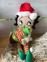"""2011 Betty Boop Collector Doll Christmas Elf Stuffed Plush 15"""" Sugar Loaf  - $14.67"""