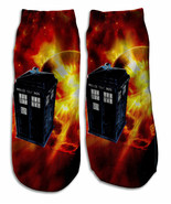 Dr. Who Tardis 6 Steezy Low Ankle Socks New Women Size 7-12 Timelord Fas... - $9.95