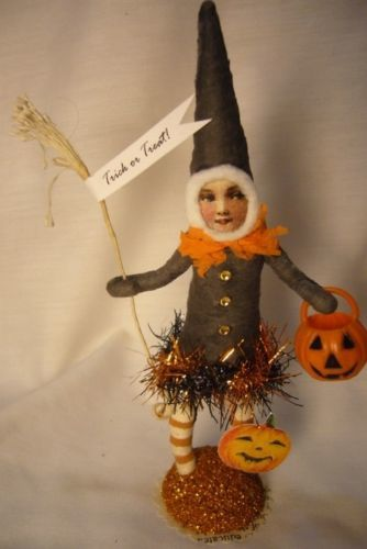 Vintage Inspired Spun Cotton, Halloween Elf , no. 230