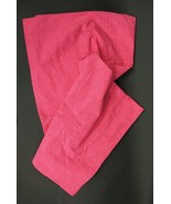 "New THE LAND OF NOD Pink Crosshatch 84"" Curtain Panels Pair Organic Cotton - $34.00"
