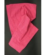 "New THE LAND OF NOD Pink Crosshatch 84"" Curtain Panels Pair Organic Cotton - $34.00"