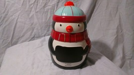 St. Nicolas Square Merry Merry Hand Painted Cookie Jar w/ Chalkboard on ... - $20.69