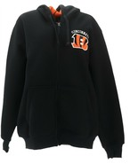 NFL Team Color Poly Knit Sherpa Lining Zip Up Hoodie Bengals XL NEW A295848 - $39.58