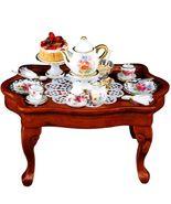 DOLLHOUSE Dresden Rose Tea Table Set Reutter 1.785/3 Miniature 2018 - $66.50
