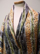 4yds SILK FACE COUTURE MATELASSE COAT SUIT FABRIC STUNNING GOLD BLK OFF ... - $200.00