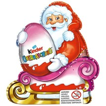 Kinder Chocolate SANTA CLAUS on sleigh GIRL -Made in Germany FREE SHIPPING - $11.87