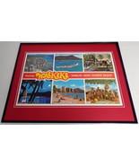 VINTAGE 1970s Waikiki Hawaii Framed 16x20 Poster Display - $79.19