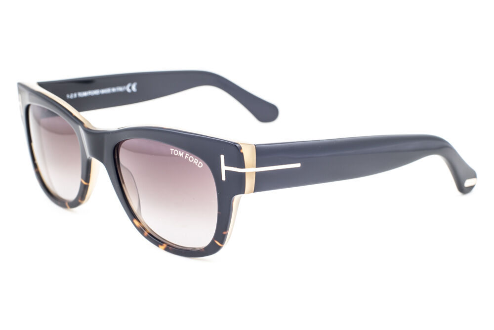 Tom Ford Cary Black Havana / Roviex Gradient Sunglasses TF58 05K