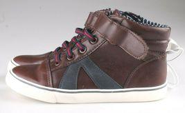 Cat & Jack Kleinkind Jungen 'Brown Ed Sneakers Mid Top Schuhe 11 US Nwt image 3