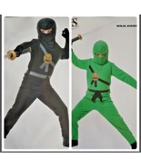 Avengers Ninja Boys Halloween Costume Sizes XS S M L Green Black B48 USA... - $16.99