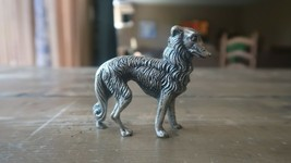 """Antique Silver Italian Wolf Figure Paperweight HEAVY! 2.5"""" - $69.30"""