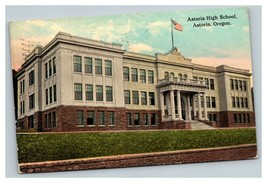 Vintage Early 1900's Postcard Astoria High School Oregon Posted - $15.81