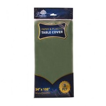 3 Ply Paper/Plastic Table Covers 54 x 108 Inch Green/Case of 24 - $93.97 CAD