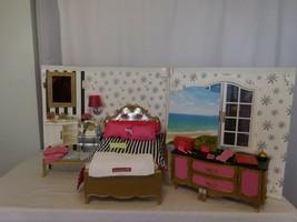 American girl doll Grand Hotel Bedroom Bathroom Vanity Desk  With Access... - $374.24