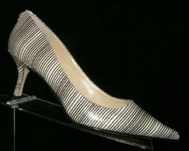 Ivanka Trump 'Indico' striped man made pointed toe slip on kitten heels 8.5M  - $33.30