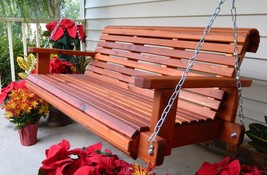6ft Porch Swing,Handmade Southern Style,Western Red Cedar,Made in USA,Fr... - $539.99+