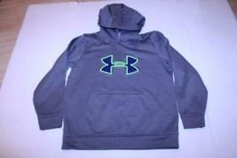 Youth Boys Under Armour L Loose Fit Grey Hooded Sweatshirt Hoodie - $15.88