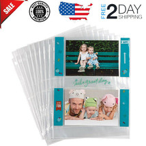 4x6 Photo Album Pages for 3 Ring Binder Archival Sleeves Holder and Post... - $9.99