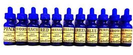 Set of 11 Liquid Candle Dyes - 1 oz Glass Dropper Bottles with Childproo... - $74.25