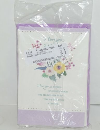 Hallmark I Love You Mom Purple White Happy Birthday Card Set of 4