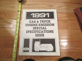 1991 Ford Car and Truck engine emission special Specifications issue Book - $8.99